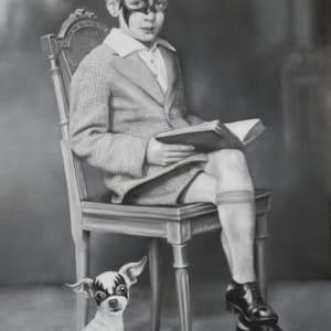 Zoe Byland - Boy and Dog, unframed
