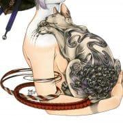 Zoe-Lacchei_Geisha-with-Tattoed-cat_2