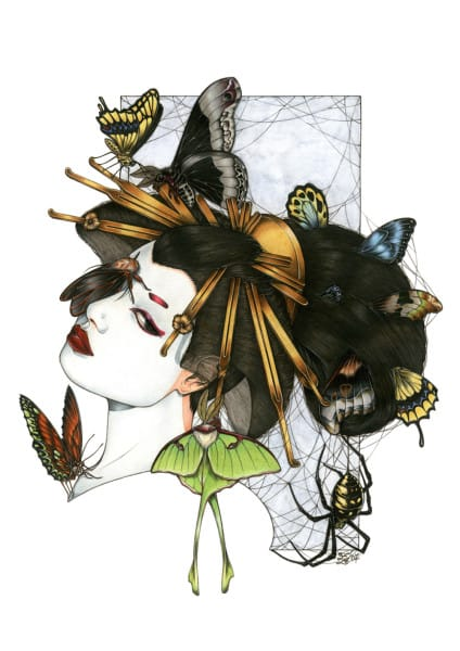 Zoe Lacchei - Geisha with Spiders
