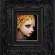 NaotoHattori_COSMIC CONSCIOUSNESS_16x23cm_Frame Size 38x20cm_Acrylic on wood panel_1