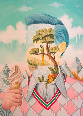 Rafael Silveira, Calor Humano, Oil on Canvas, 2020