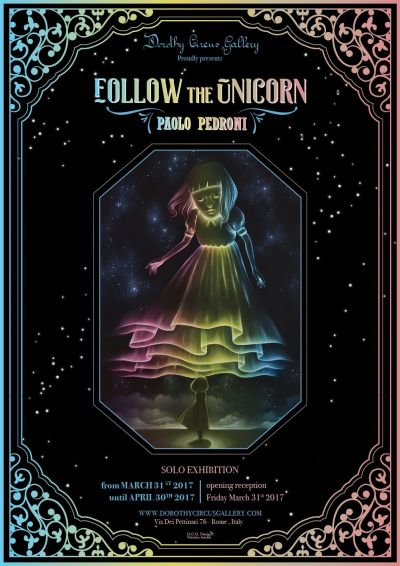 Poster Follow the Unicorn by Paolo Pedorni