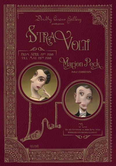 Poster StraVolti - Marion Peck solo exhibition